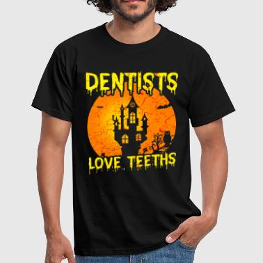 Teeth Dentist Dentist Teeth Tooth Halloween - Men's T-Shirt