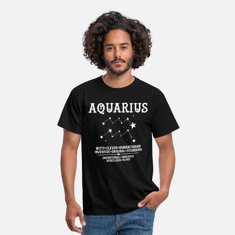 Aquarius T-Shirts - Aquarius Zodiac Sign - Men's T-Shirt black