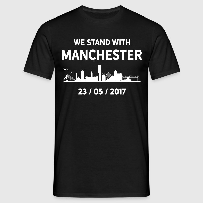 We Stand With Manchester - Men's T-Shirt
