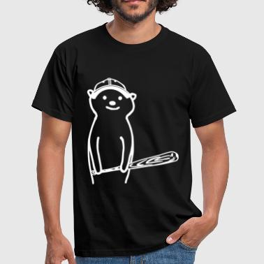 Kids Baseball Baseball Meerkats - Kids Baseball Gift - Men's T-Shirt