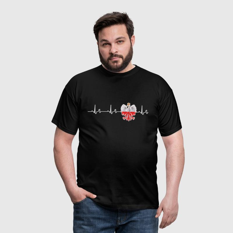 Heartbeat - Poland - Men's T-Shirt