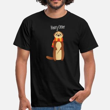 Sarkasme Morsom Hairy Otter - Cute Illustration - T-skjorte for menn
