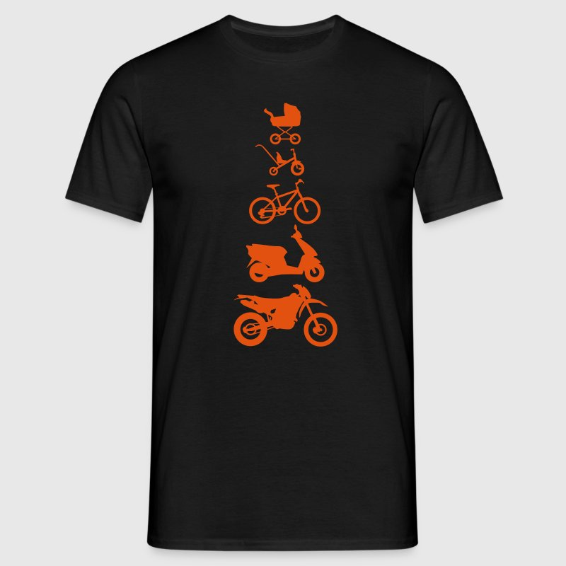 Motorcycle Enduro Evolution Voorzijde  - Mannen T-shirt