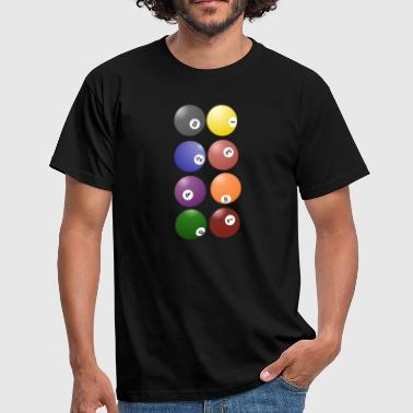 pool billards billiards snooker queue ball sport26 - Männer T-Shirt