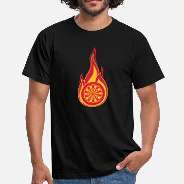 Dart mål eld brinna flammor hot association logg - T-shirt herr