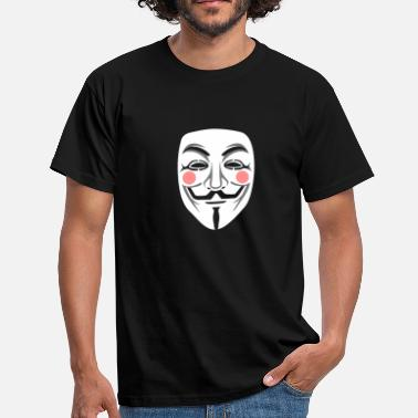 Wikileaks Anonymous / masque de Guy Fawkes 3clr - T-shirt Homme