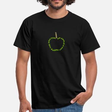 Hälsa an apple a day keeps the doctor away - T-shirt herr