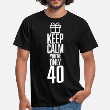 40 Years KEEP CALM 40 YEARS - Männer T-Shirt