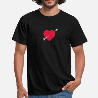 Corazon Heart round with arrow - Mannen T-shirt