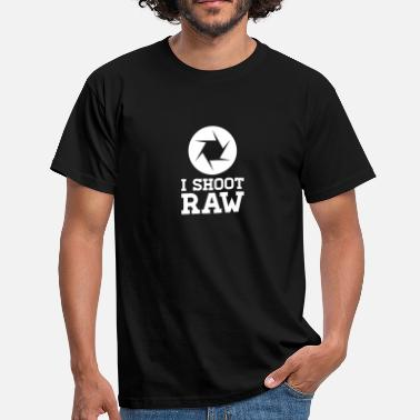 Camera Raw I Shoot RAW - Photography - Men's T-Shirt