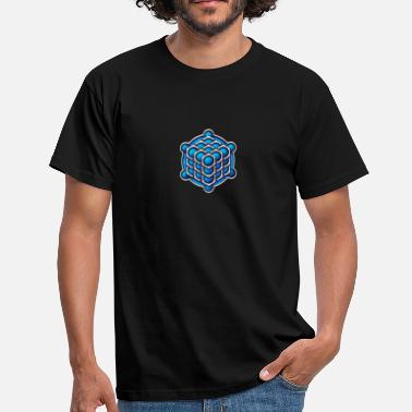 Metatrons Cube 3D Cube - crop circle - Metatrons Cube - Hexagon / - Men's T-Shirt