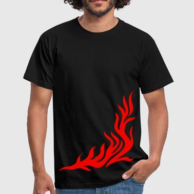 fuoco, flame/ T-shirt, fire,vector, can be combined with flame / pants - Maglietta da uomo