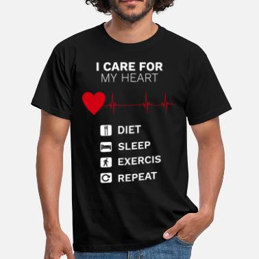 Ailments I care for my heart - Men's T-Shirt