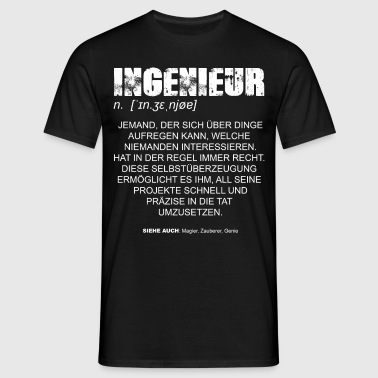 Ingenieur Definition DE - Männer T-Shirt