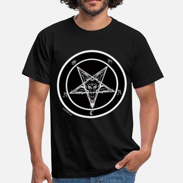 Satanic Sigil of Baphomet Satan - Men's T-Shirt