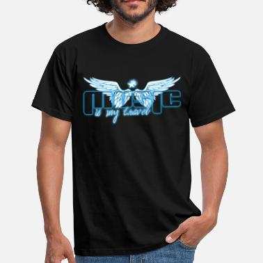 MUSIC IS MY TRAVEL BLUE - T-shirt Homme