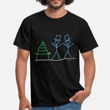Sex Stick Stick figure same-sex marriage couple man - Men's T-Shirt