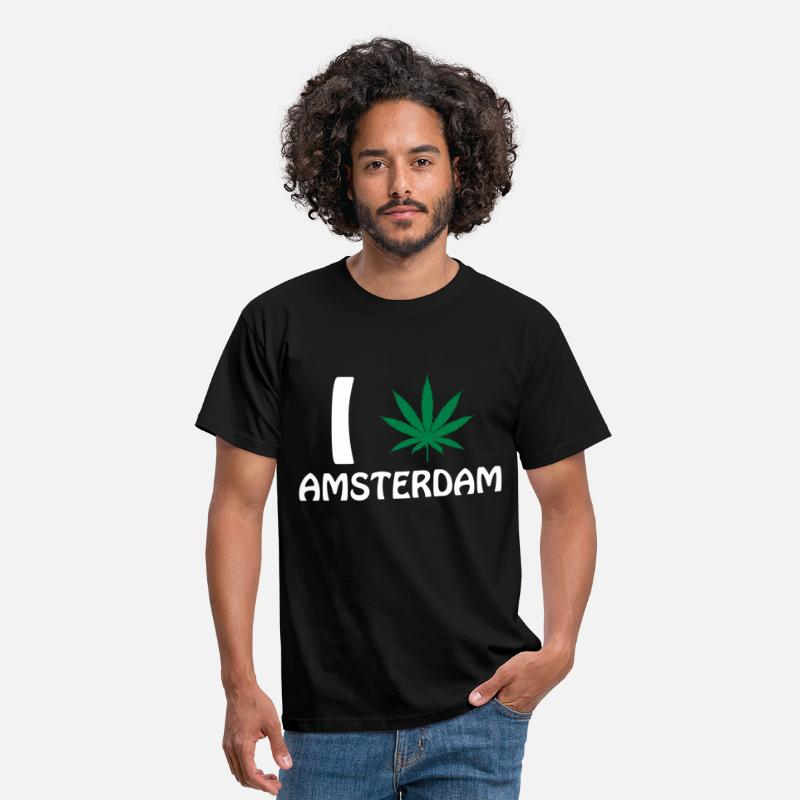 Amsterdam T-Shirts - I Love Amsterdam - Men's T-Shirt black
