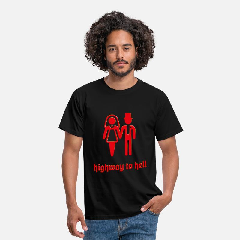 Air Guitar T-Shirts - Highway To Hell (Stag Party, Hen Night / 3D / SVG) - Men's T-Shirt black