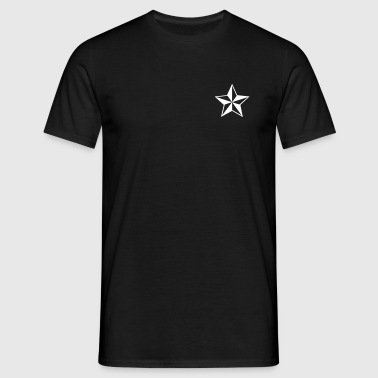 Nautische Sterne Outlaw Oldschool Tattoo Nautical Stars - T-skjorte for menn