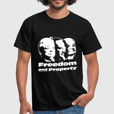 Freedom and Property - Männer T-Shirt