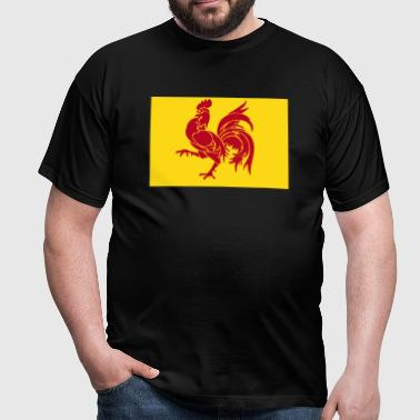 Flag of Wallonia - Belgium - Flanders - Men's T-Shirt