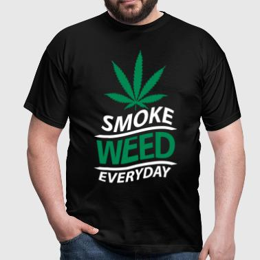 smoke weed everyday vague - T-shirt Homme