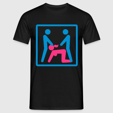 Kamasutra - Menage a Trois (MFM) - Men's T-Shirt