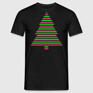 Christmas tree lines - Men's T-Shirt