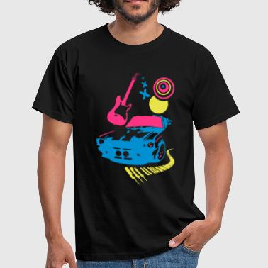 voiture dj pop rock - T-shirt Homme
