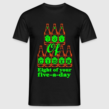 The Joy of Cider Eight of your five a day - Men's T-Shirt
