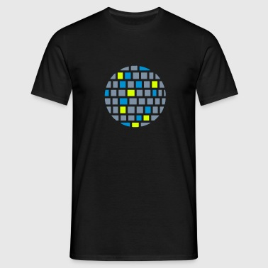 Mirror ball for disco, club and party - Men's T-Shirt