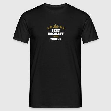 best vocalist in the world stars crown - Men's T-Shirt