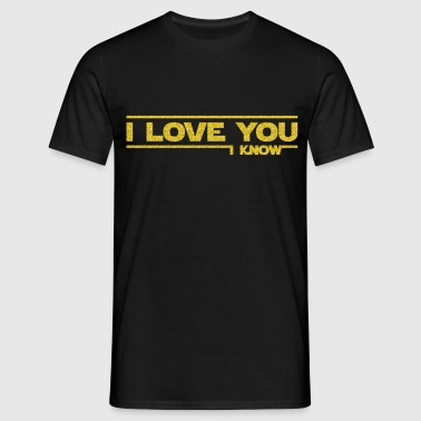 I love you I know (Star Wars) - Camiseta hombre