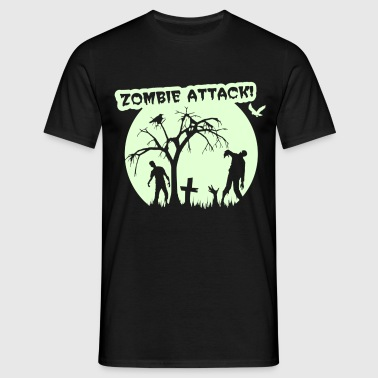 Zombie Attack - Halloween - T-shirt Homme