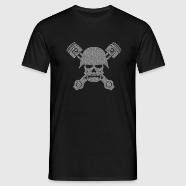 army skull piston - T-shirt Homme