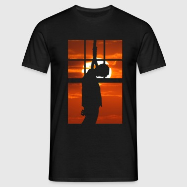 Hang man, hung, hanged, hung, sentenced sarakstisc - T-shirt Homme