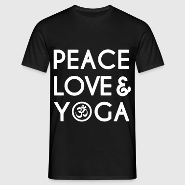 Peace, Love, Yoga  - Men's T-Shirt