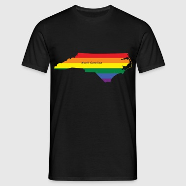 north carolina rainbow flag - Men's T-Shirt
