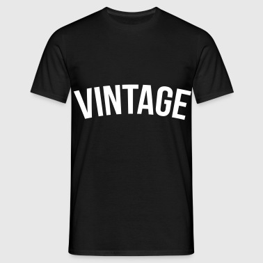 vintage old school  - T-shirt Homme