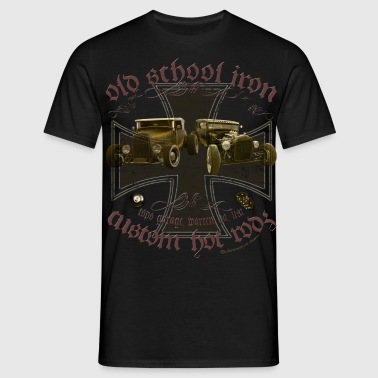 Oldschool iron, custom american Hot Rod, Rat Rod - Männer T-Shirt