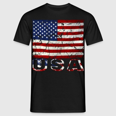 vintage us flag stars and stripes distressed - Men's T-Shirt