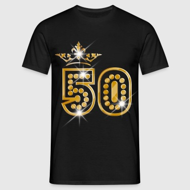50 - Birthday - Queen - Gold - Burlesque - Mannen T-shirt