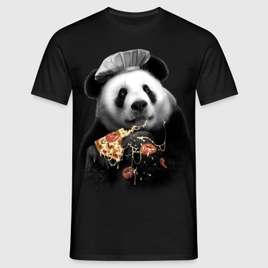 PANDA PIZZA - Men's T-Shirt