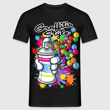 Graffitis cartoon style - T-shirt Homme