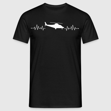 Heartbeat helicopter helicopter - Men's T-Shirt