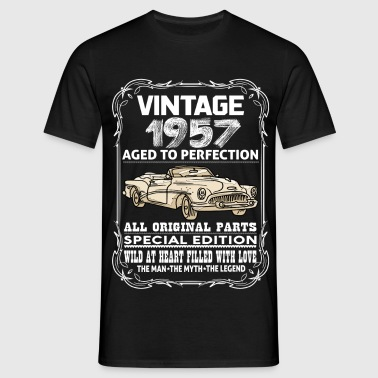 VINTAGE 1957-AGED TO PERFECTION - Men's T-Shirt