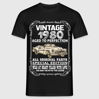 VINTAGE 1980-AGED TO PERFECTION - Men's T-Shirt