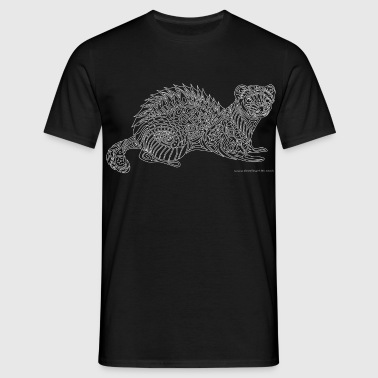 Ferret - white lines - Men's T-Shirt
