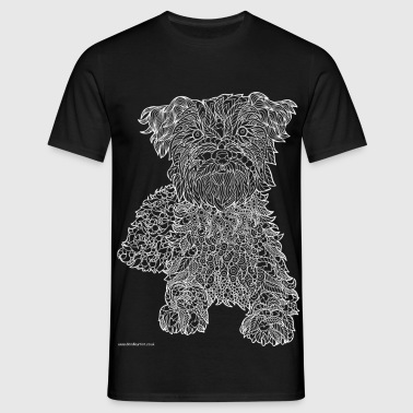 Cairn Terrier white line - Men's T-Shirt
